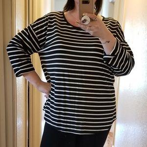 Women's Plus Size Striped Top